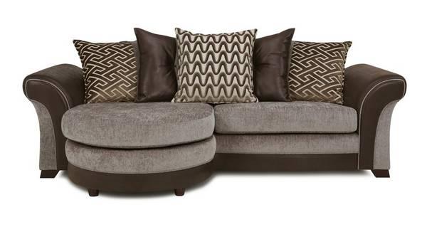 Waltz 4 Seater Pillow Back Lounger