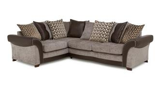 Waltz Right Hand Facing 3 Seater Pillow Back Corner Sofa