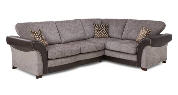 Waltz Left Hand Facing 3 Seater Formal Back Deluxe Corner Sofa Bed