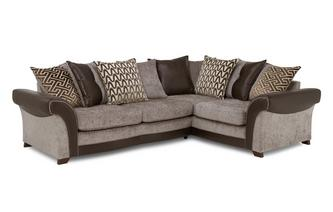 Left Hand Facing 3 Seater Pillow Back Deluxe Corner Sofa Bed Eternity