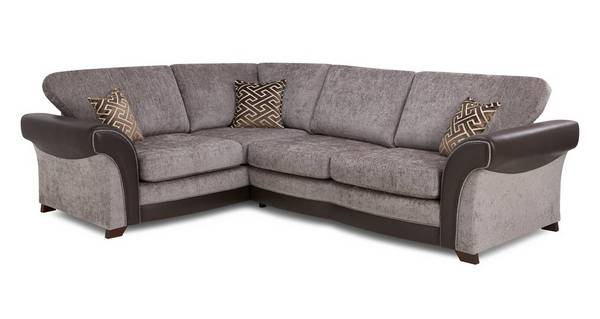 Waltz Right Hand Facing 3 Seater Formal Back Deluxe Corner Sofa Bed