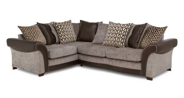 Waltz Right Hand Facing 3 Seater Pillow Back Deluxe Corner Sofa Bed