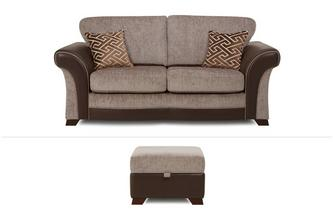 Waltz Clearance 2 Seater Sofa Bed & Storage Footstool Eternity