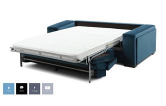 Velvet 3 Seater Sofa Bed