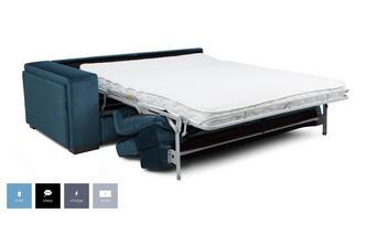 Velvet Left Hand Facing Arm 2 Seat Sofa Bed Unit
