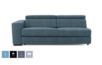 Left Hand Facing Arm 2 Seat Sofa Bed Unit