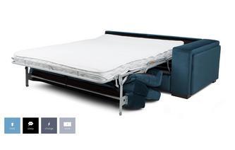 Velvet Right Hand Facing Arm 2 Seat Sofa Bed Unit