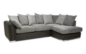 Pillow Back Left Hand Facing 3 Seater Open End Corner Sofa