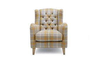 Plaid Accent Chair