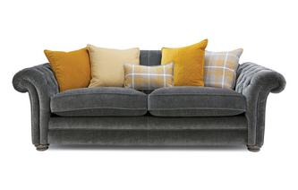 Pillow Back 4 Seater Sofa Warwick Plain