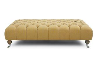Dogtooth Large Rectangular Button Footstool