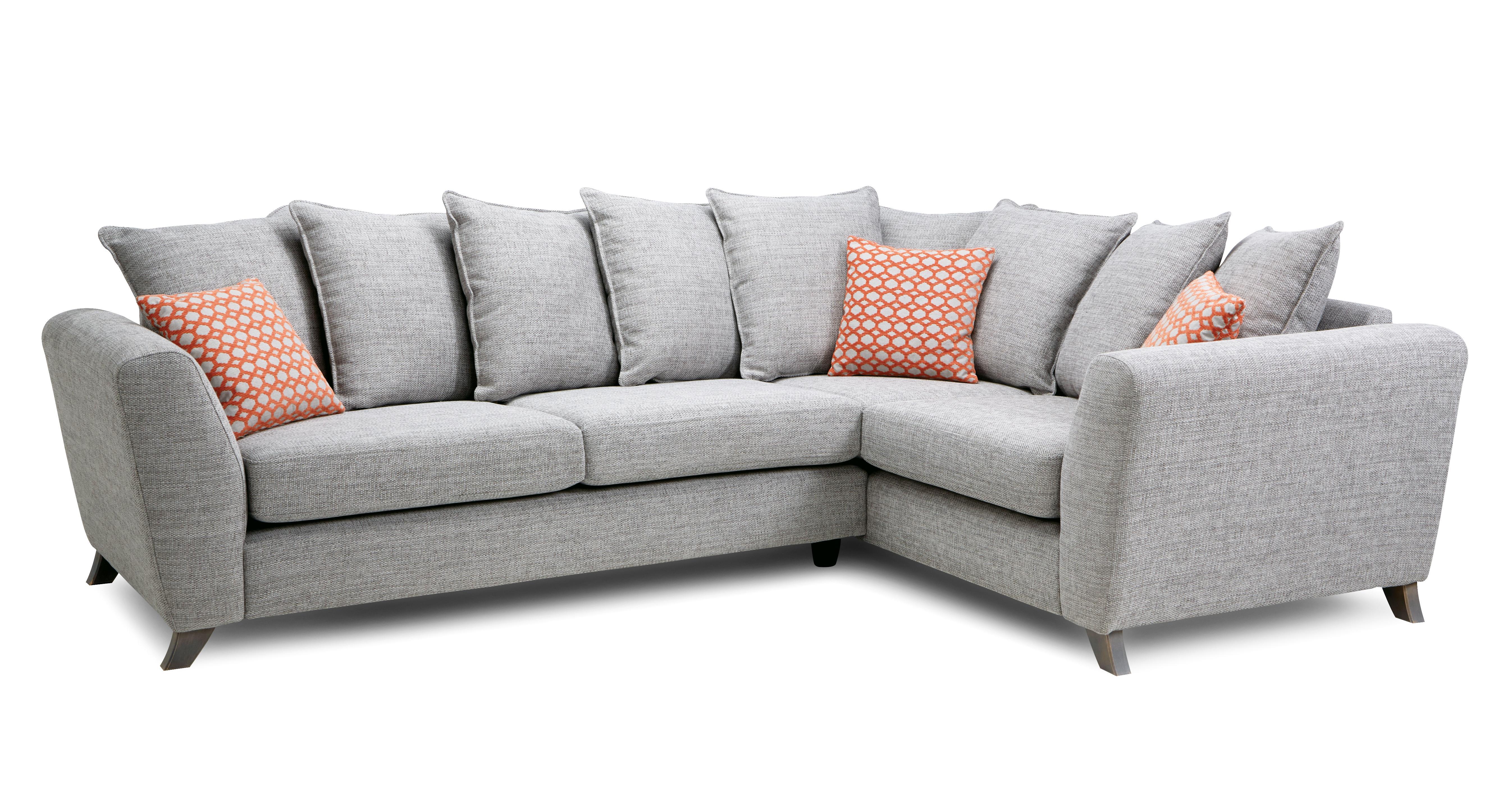 Welbury Pillow Back Left Hand Facing 3 Seater Corner Sofa ...