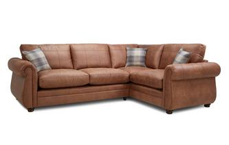 Formal Back Left Hand Facing 3 Seater Sofa Bed Corner Sofa