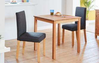 Westgate Square Table & Set of 2 Fully Upholstered Chairs Westgate