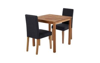 Square Table & Set of 2 Fully Upholstered Chairs