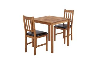 Square Table & Set of 2 Slat Back Chairs Westgate