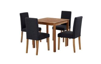 Square Table & Set of 4 Fully Upholstered Chairs Westgate