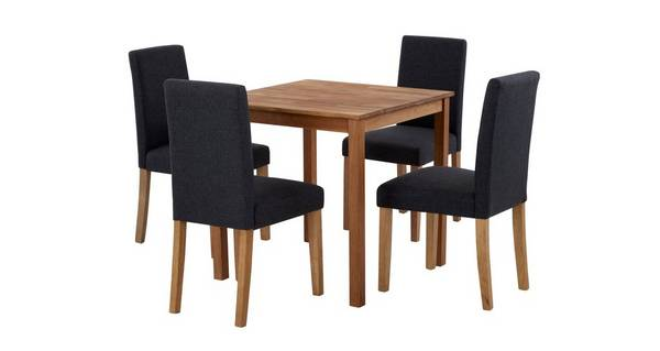 Westgate Square Table & Set of 4 Fully Upholstered Chairs