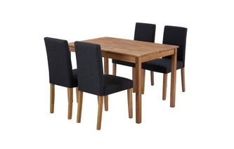 Rectangular Table & Set of 4 Fully Upholstered Chairs Westgate