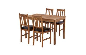 Rectangular Table & Set of 4 Slat Back Chairs Westgate