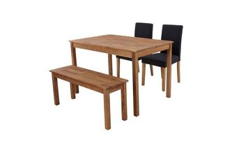 Rectangular Table & Set of 2 Fully Upholstered Chairs and 1 Bench Westgate