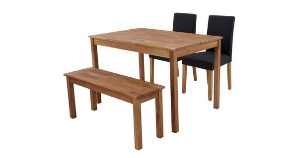 Westgate Rectangular Table & Set of 2 Fully Upholstered Chairs and 1 Bench