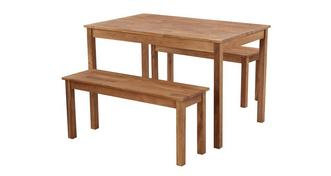 Westgate Rectangular Table & Set of 2 Benches