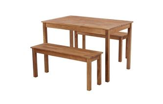Rectangular Table & Set of 2 Benches Westgate