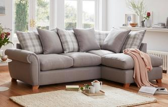 Weston Plain Left Arm Facing Pillow Back Corner Sofa Arran