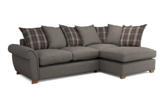 Weston Plain Left Arm Facing Pillow Back Corner Sofa Bed Arran
