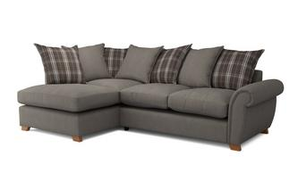 Weston Plain Right Arm Facing Pillow Back Corner Sofa Bed Arran