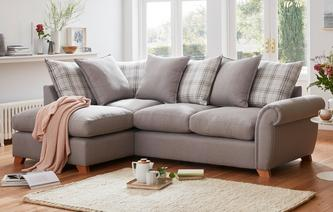 Weston Plain Right Arm Facing Pillow Back Corner Deluxe Sofa Bed Arran