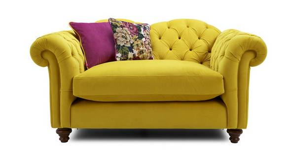 Windsor Velvet Cuddler Sofa