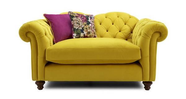 Windsor Velvet Cuddler Sofa