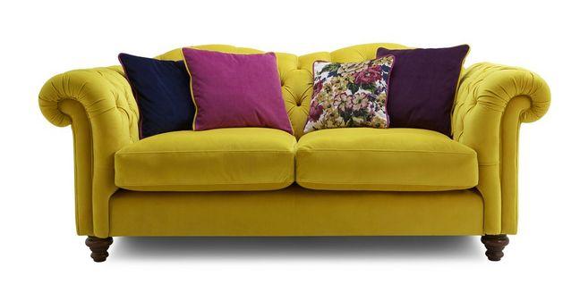 Windsor: Velvet 3 Seater Sofa