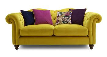 Joules Yellow Windsor 3 Seater Sofa