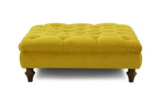 Velvet Footstool Windsor Velvet