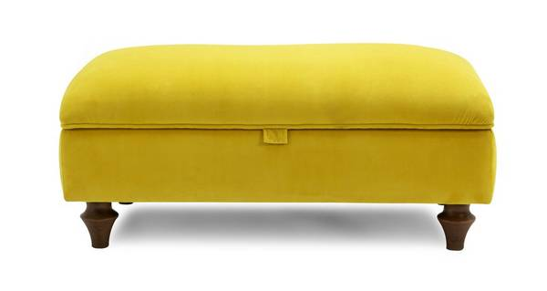 Windsor Velvet Storage Footstool