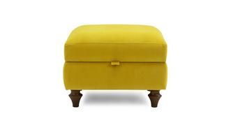 Windsor Velvet Compact Storage Footstool