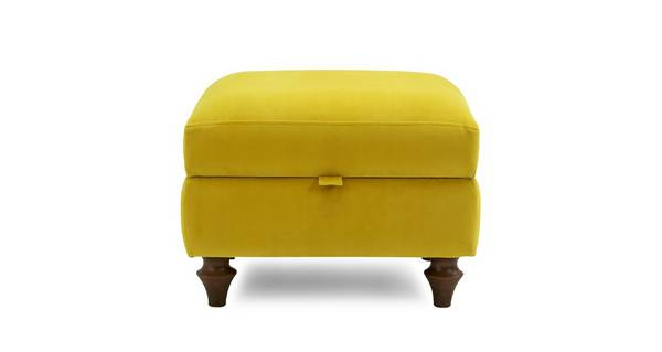 Windsor Velvet Compact Storage Footstool