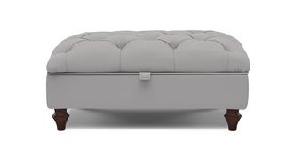 Windsor Cotton Buttoned Storage Footstool