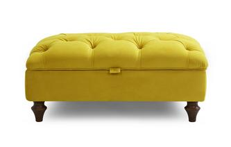 Velvet Buttoned Storage Footstool Windsor Velvet