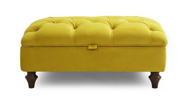Windsor Velvet Buttoned Storage Footstool