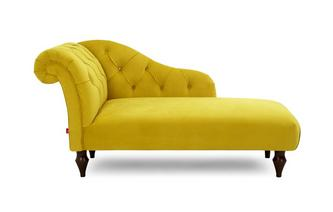Left Hand Facing Chaise Longue Windsor Velvet