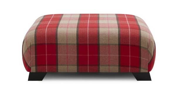 Winslow Multi Check Large Footstool