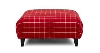 Winslow Plain Check Large Footstool