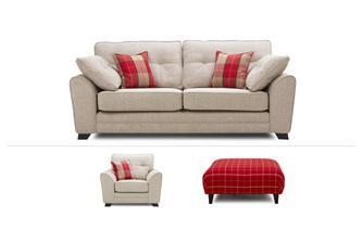 3 Seater Sofa, Chair U0026 Stool