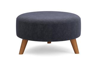 Round Footstool Blended Weave