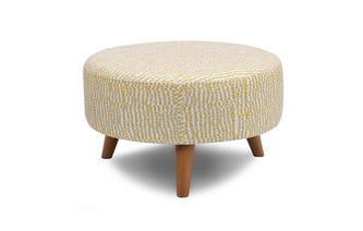 Round Footstool Dotty