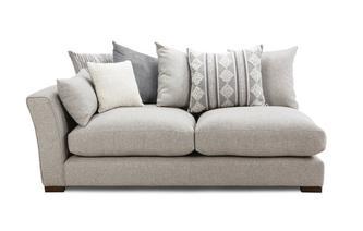 Pillow Back Left Hand Facing Arm 2 Seat Unit